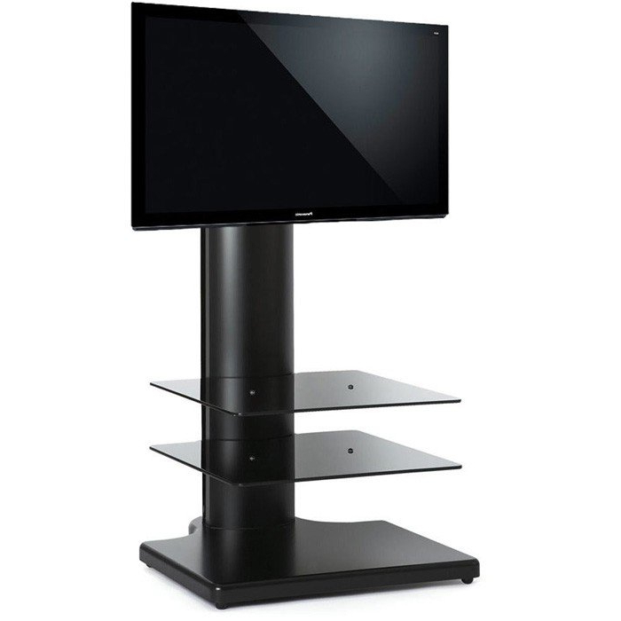 "Fashionable Off Wall Tv Stands Pertaining To Off The Wall Origin S1 Cantilever Tv Stand In Black For Tv's Up To 32"" (View 6 of 20)"