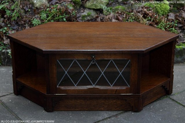 Fashionable Old Mill / Charm Dark Oak Tv Hi Fi Cd Stand Table Cabinet For Sale Regarding Dark Wood Tv Stands (View 10 of 20)