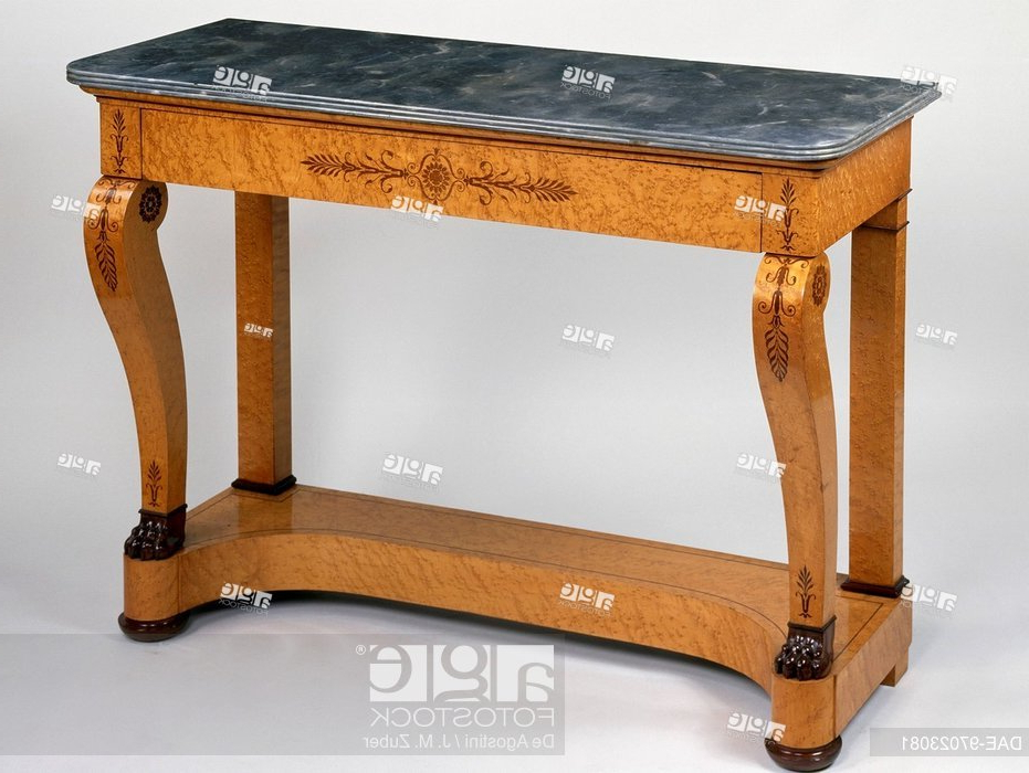 Fashionable Orange Inlay Console Tables Pertaining To Restoration Style (Charles X) Speckled Maple Console Table With (View 13 of 20)