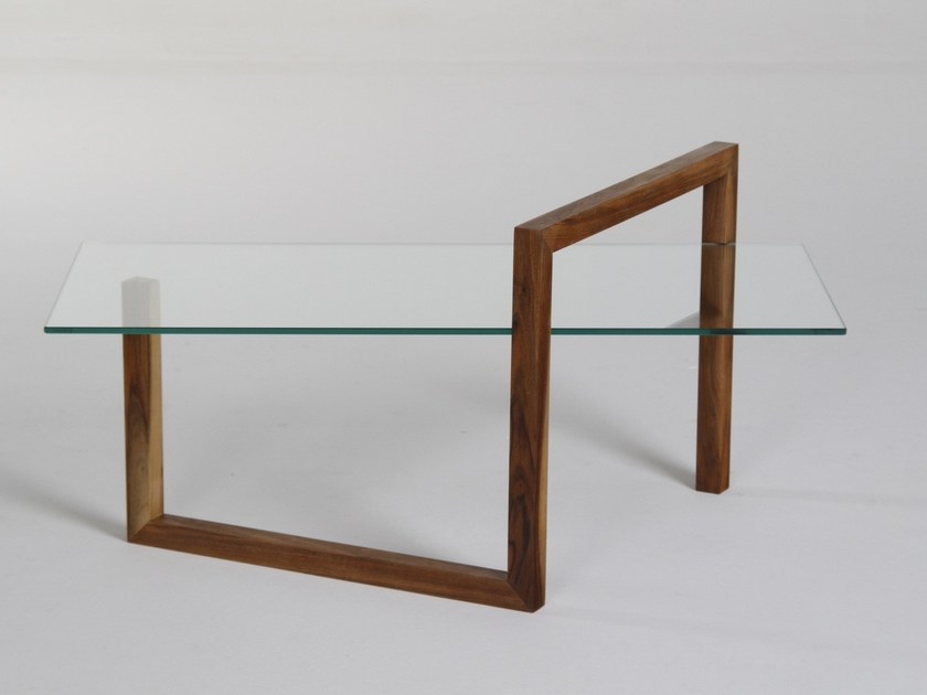 Fashionable Rectangular Wood And Glass Coffee Table Sentioera Design Mario For Era Glass Console Tables (View 10 of 20)