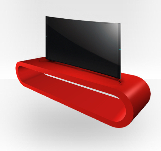 Fashionable Red Gloss Tv Stand – Zestretch Hoop – Zespoke In Red Gloss Tv Stands (View 9 of 20)