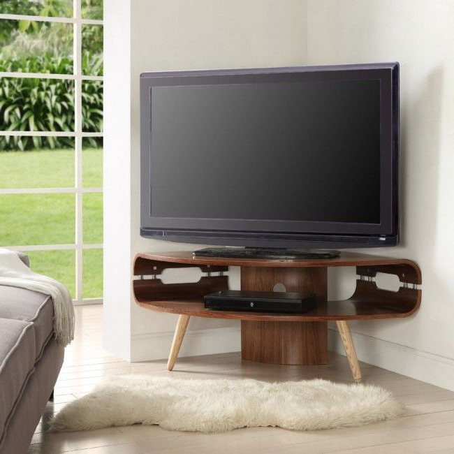 Fashionable Retro Corner Tv Stands Throughout Jual Havana Jf701 Walnut Retro Style Corner Tv Stand (View 4 of 20)