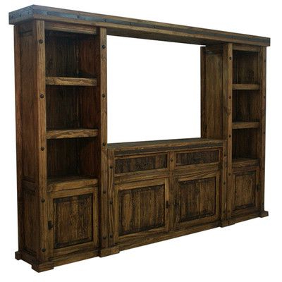 Fashionable Rustic – Western – Tv Wall Unit – Tv Stand – Entertainment Center Regarding Rustic Wood Tv Cabinets (View 12 of 20)