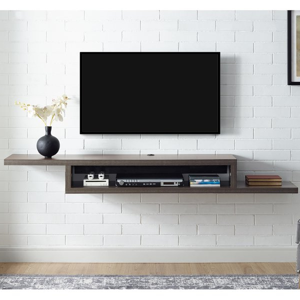 "Fashionable Shelves For Tvs On The Wall With Martin Home Furnishings Ascend 60"" Asymmetrical Wall Mounted Tv (View 10 of 20)"