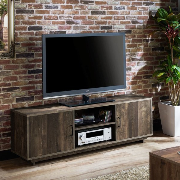 Fashionable Shop Furniture Of America Mailer Rustic Reclaimed Oak 63 Inch Tv Pertaining To Kai 63 Inch Tv Stands (View 3 of 20)