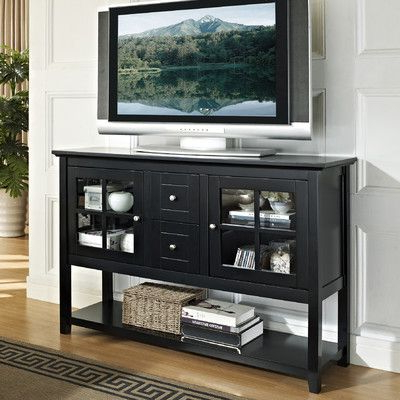 """Fashionable Slim Tv Stand For Living Room–16"""" Deep Home Loft Concept 52"""" Tv Inside Dixon Black 65 Inch Highboy Tv Stands (Gallery 8 of 20)"""