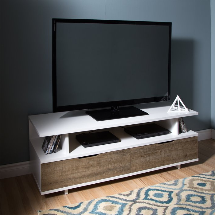 "Fashionable South Shore Reflekt Tv Stand For Tvs Up To 60"" & Reviews (View 2 of 20)"