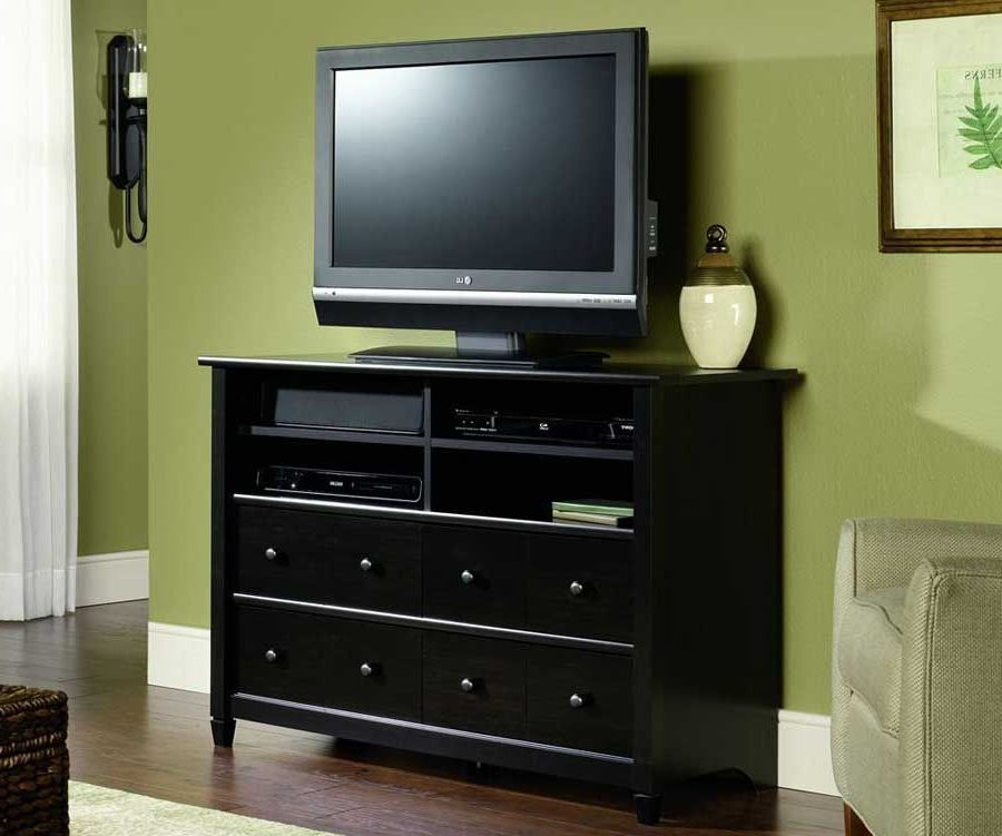 Fashionable Tall Black Tv Cabinets With Regard To Suder Edge Water Tall Tv Stand Estate Black Finish (View 2 of 20)