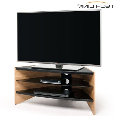 Fashionable Techlink Riva Tv Stands Pertaining To Techlink Rv100lo Riva Corner Tv Stand In Light Oak And Black Glass (View 7 of 20)