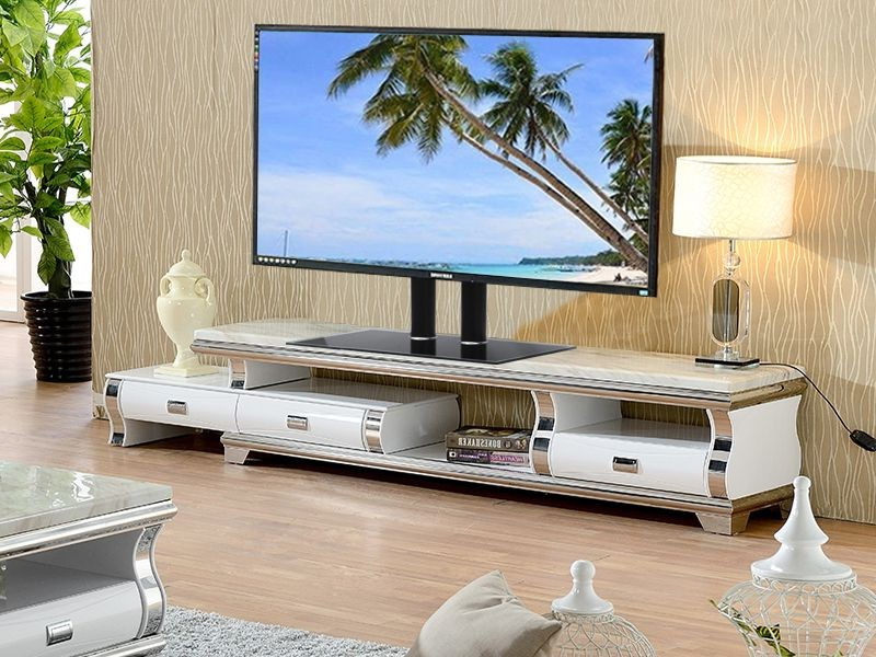 Fashionable Tv Stands For 70 Flat Screen Inside Tv Stand With Glass Base Height Adjustable 32  (View 6 of 20)