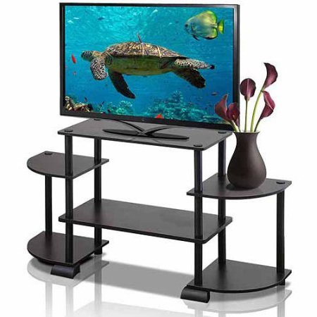 Fashionable Tv Stands Rounded Corners In Amazon: Turn N Tube Rounded Corner Tv Stand Entertainment Center (View 5 of 20)