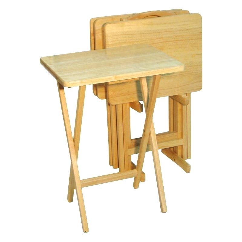 Fashionable Tv Tray Set With Stands Intended For Wooden Tv Trays With Stand Wood Tray Sets Tray Sets Tray Table With (View 5 of 20)