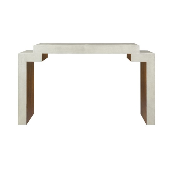 Faux Shagreen Console Tables Pertaining To Fashionable Westcott Large Faux Cream Shagreen Console Table With Interior Wood (View 7 of 20)