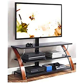"Favorite Amazon: Jaxon 3 In 1 Cognac Tv Stand For Tvs Up To 70"": Kitchen For Jaxon 65 Inch Tv Stands (View 7 of 20)"
