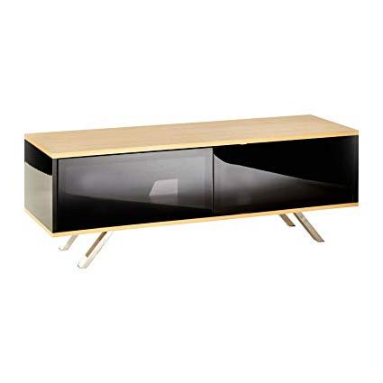 Favorite Amazon: Oak Black Tv Cabinet Stand Oak Finish (View 9 of 20)