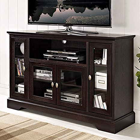 "Favorite Amazon: We Furniture 52"" Highboy Style Wood Tv Stand Console With Regard To Highboy Tv Stands (View 8 of 20)"