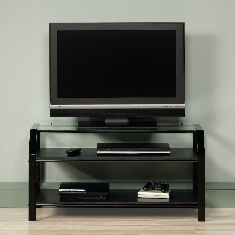 Favorite Black/glass Tv Stand – Beginnings (View 9 of 20)