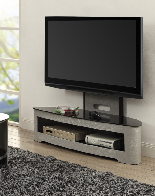 Favorite Cheap Cantilever Tv Stands With Jual Furnishings Jf209 Grey Ash Cantilever Tv Stand With Bracket Up (View 19 of 20)