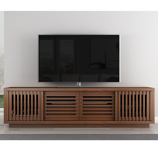 "Favorite Contemporary Tv Stands With Regard To Furnitech Ft82Ws Contemporary Tv Stand Console Up To 90"" Tvs In Warm (View 10 of 20)"