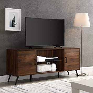 "Favorite Dark Walnut Tv Stands For Amazon: We Furniture Az60Nor2Ddw Tv Stand 60"" Dark Walnut (View 7 of 20)"