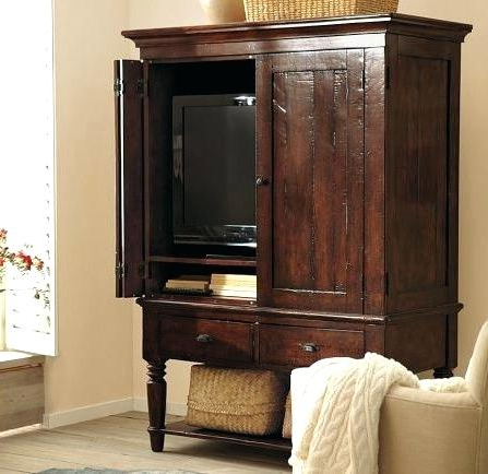 Favorite Enclosed Tv Cabinets For Flat Screens With Doors Brilliant Builds A With Regard To Enclosed Tv Cabinets With Doors (View 8 of 20)