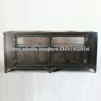 Favorite Industrial Metal Tv Unit With Storage Space,vintage Iron Tv Stand Inside Industrial Metal Tv Stands (View 8 of 20)