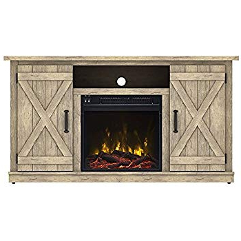 Favorite Kilian Grey 74 Inch Tv Stands Intended For Amazon: Comfort Smart Killian Electric Fireplace Tv Stand (View 4 of 20)