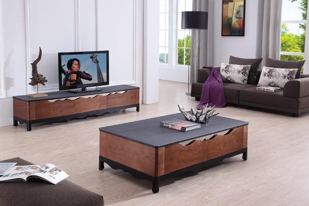 Favorite Lizz Black Living Room Furniture Tv Stand And Coffee Table Modern Tv With Regard To Tv Cabinets And Coffee Table Sets (View 8 of 20)