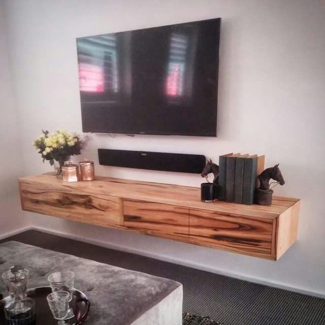 Favorite Love The Idea Of A Stand Alone Tv W/ Floating Rustic Shelf Beneath In Floating Tv Cabinets (View 10 of 20)