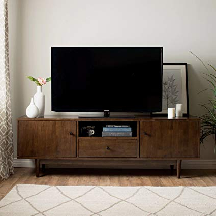 Favorite Modern Tv Stands Regarding Amazon: Mfr Furniture Mid Century Modern Tv Stand Provides Retro (View 9 of 20)