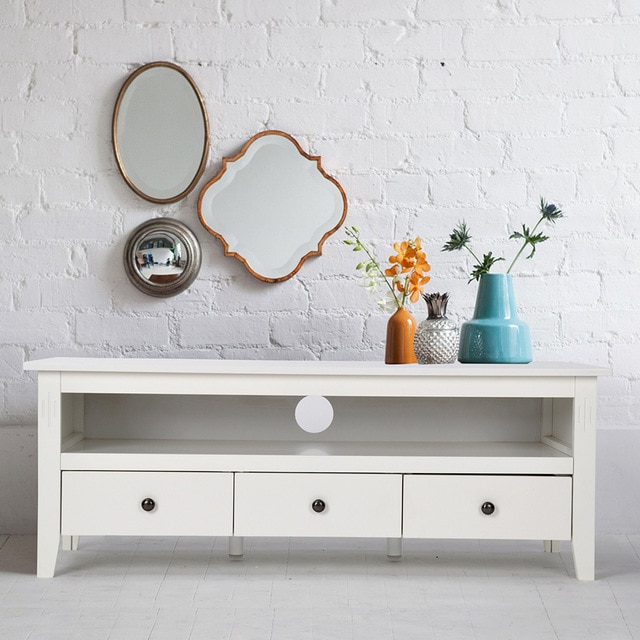 Favorite Modern White Tv Stands Intended For Aingoo Modern White Tv Stand Having A Tv Stand Collection Or Storage (View 18 of 20)