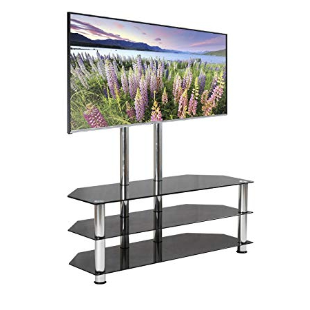 Favorite Mountright Ums5 Cantilever Glass Tv Stand For Up To 60 Inch Screens With Regard To Cantilever Glass Tv Stands (View 3 of 20)