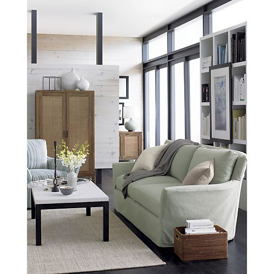Favorite Parsons Rectangular Coffee Table With Travertine Top In Side, Coffee With Regard To Parsons Travertine Top & Dark Steel Base 48X16 Console Tables (View 5 of 20)