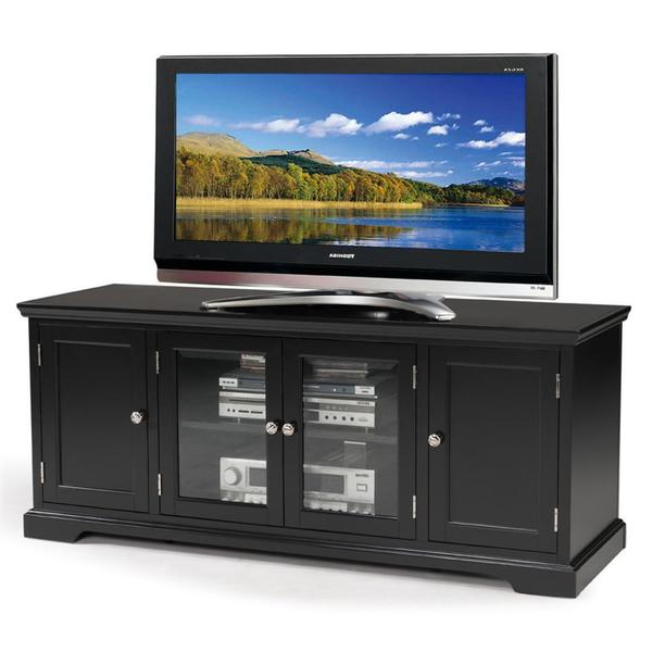 Favorite Shop Black Hardwood 60 Inch Tv Stand – Free Shipping Today In Hard Wood Tv Stands (View 7 of 20)