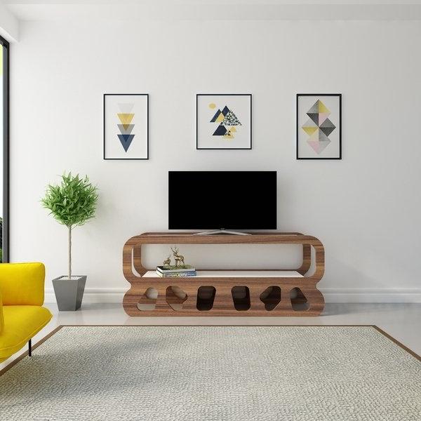 Favorite Shop Decorotika Flintstones Open Shelf Tv Stand Media Console – Free Throughout Open Shelf Tv Stands (View 3 of 20)