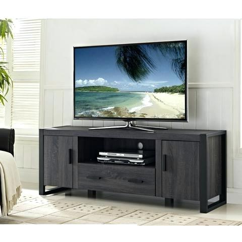 Favorite Sinclair Grey 64 Inch Tv Console Charcoal Wood Stand Large – Eventshere In Sinclair Blue 74 Inch Tv Stands (View 20 of 20)