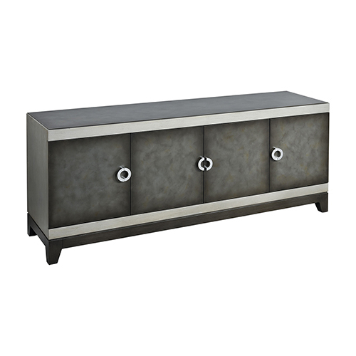 Favorite Stein World Aleksey Antique Pewter And Silver Media Console 17047 With Jaxon 76 Inch Plasma Console Tables (View 6 of 20)
