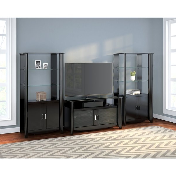 Favorite Tv Cabinets With Storage Intended For Shop Aero Tv Stand And Set Of 2 Tall Library Storage Cabinets With (View 17 of 20)