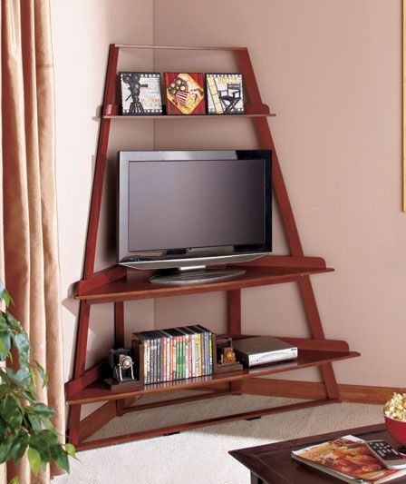 Favorite Tv Stands For Corners Pertaining To Corner Ladder Tv Stands (View 9 of 20)