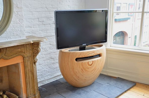 Favorite Unique Tv Stands Within Shaped Wooden Standleon Van Zanten Within Unique Corner Tv Stands (View 9 of 20)