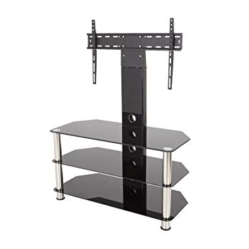 Favorite Upright Tv Stands Pertaining To King Upright Cantilever Tv Stand With Bracket Black: Amazon.co (View 7 of 20)