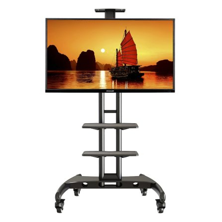 Favorite Upright Tv Stands With Flat Screen Tv Cart: Top 7 Advanced Portable Rolling Tv Stands (View 9 of 20)