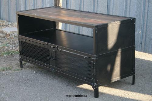 Favorite Vintage Industrial Tv Stand. Reclaimed Wood/steel (View 5 of 20)