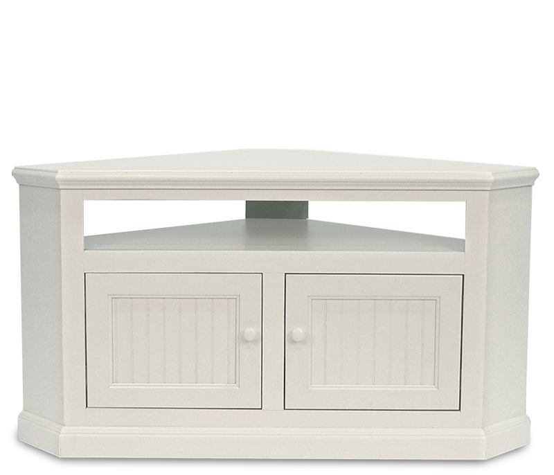 Favorite White Corner Tv Cabinets Regarding Coastal Corner Tv Stand – Soft White – An Excellent Solution For (View 8 of 20)
