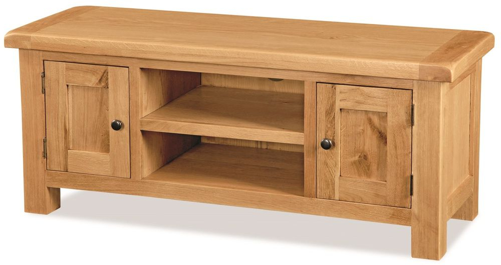 Favorite Zelah Oak Tv Stand / Waxed Oak Hand Crafted Tv Cabinet / Rustic Oak Intended For Cheap Oak Tv Stands (View 11 of 20)