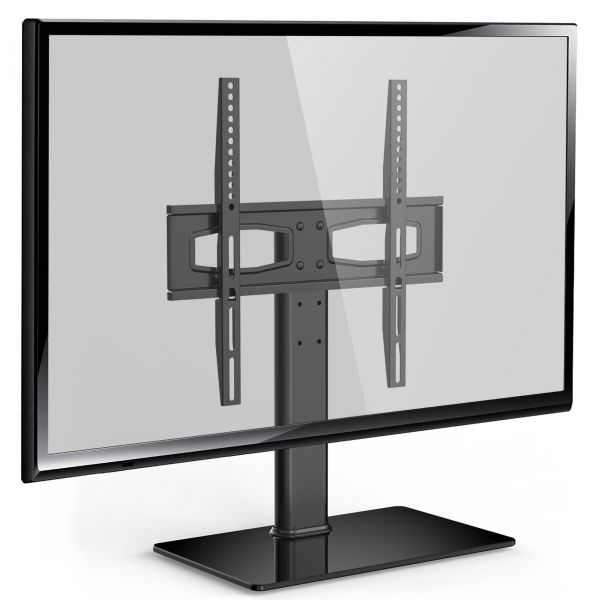 Fitueyes Universal Tv Stand Base Tabletop Tv Stand With Mount For Up Within Favorite Tabletop Tv Stands (View 5 of 20)