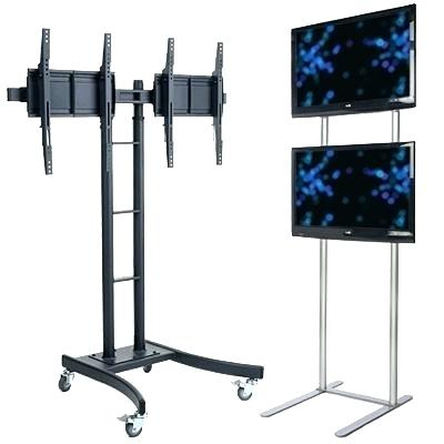 Flat Panel Tv Stands Commercial Stands Dual And Multiple Screen Throughout Favorite Dual Tv Stands (View 6 of 20)