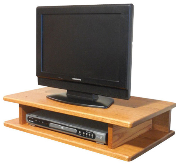 Flat Screen Solid Oak Tv Riser – Traditional – Entertainment Centers In Best And Newest Oak Furniture Tv Stands (View 4 of 20)