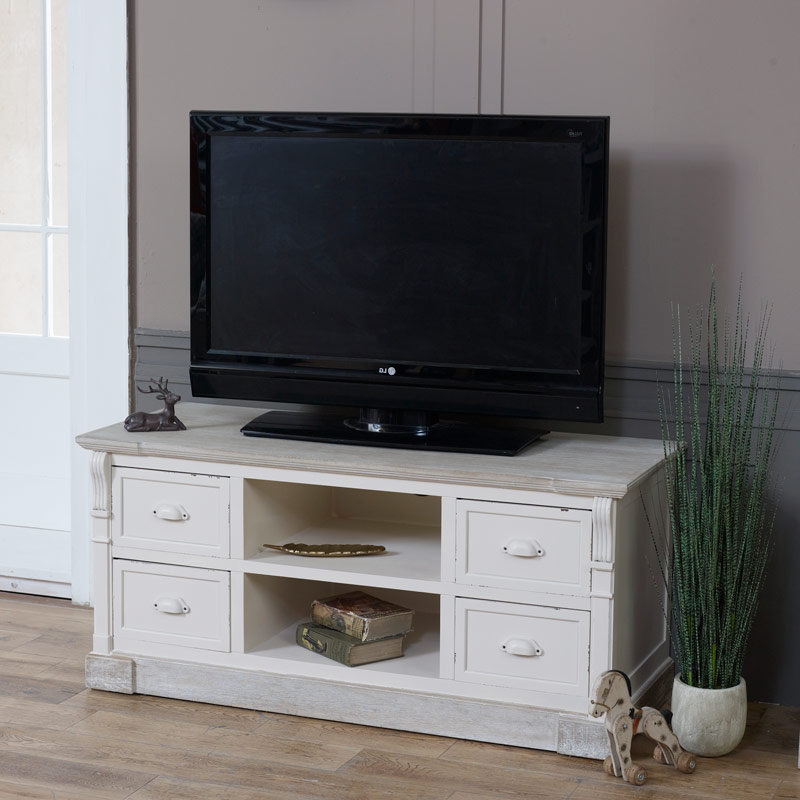 Flora Furniture Within Well Known Cream Tv Cabinets (View 11 of 20)