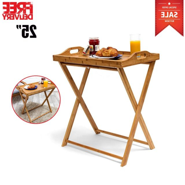 Folding Tv Tray Table Stand Eating Snack Dinner Coffee Wooden With 2018 Folding Tv Trays With Stand (View 5 of 20)
